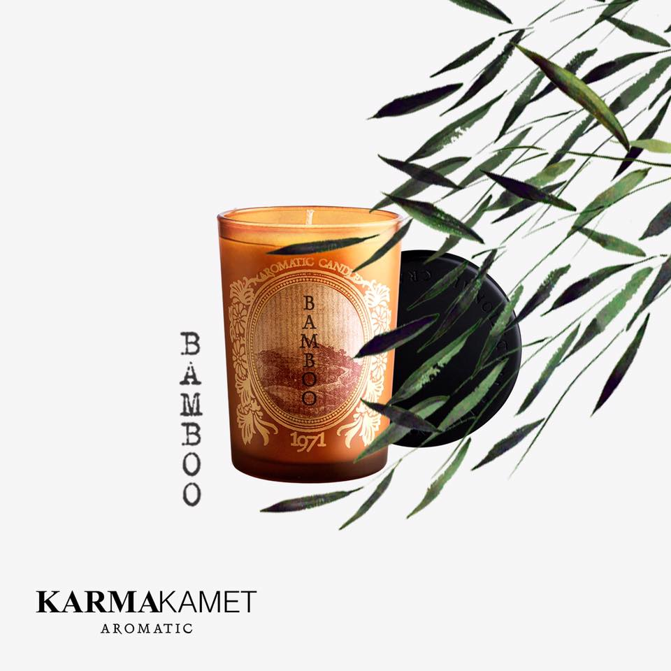 ORIGINAL AROMATIC GLASS CANDLE เทียนหอม กลิ่น BAMBOO